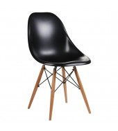 Eammes Inspired Moulded Black Dining Chair