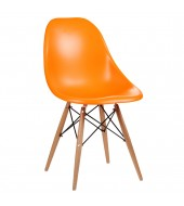 Eammes Inspired Moulded Orange Dining Chair
