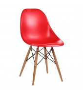Eammes Style Contemporary Red Dining Chair
