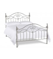 Bentley Designs Elena 135cm Shiny Nickel Bed Frame