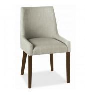 Bentley Designs Ella Walnut Scoop Back Linen Fabric Chair