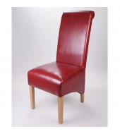 Krista Burgundy Leather Dining Chair