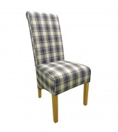 Shankar Krista Herringbone Denim Check Dining Chair