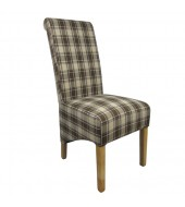 Shankar Krista Herringbone Brown Check Dining Chair