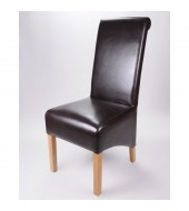 Krista Brown Leather Dining Chairs