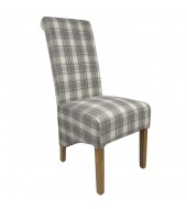 Shankar Krista Herringbone Cappuccino Check Dining Chair