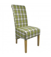 Shankar Krista Herringbone Lime Check Dining Chair