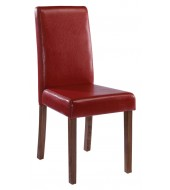 LPD Brompton Red Faux Leather Dining Chair