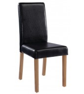 LPD Oakridge Black Faux Leather Dining Chair
