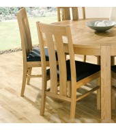 Bentley Designs Lyon Oak Slatted Dining Chair