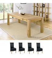 Bentley Designs Lyon Oak 150cm Extending Dining Table