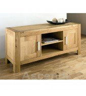 Bentley Designs Lyon Oak Large Entertainment Unit