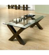 Bentley Designs Lyon Walnut Glass Coffee Table