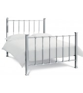 Bentley Designs Madison 150cm Shiny Nickel Bed Frame