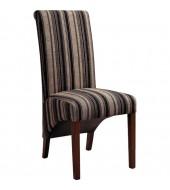 Biba Striped Fabric Dining Chair With Dark Leg Finish