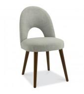 Bentley Designs Oslo Walnut Linen Fabric Upholstered Dining Chair
