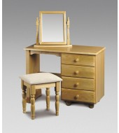 Julian Bowen Pickwick Dressing Table With Stool & Mirror