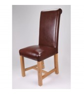 Richmond Antique Brown Leather Chair