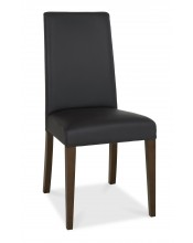 Bentley Designs Akita Walnut Tapered Back Brown Faux Dining Chair