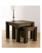 Bentley Designs Lyon Walnut Nest of Tables