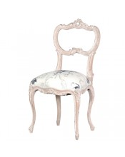 Rococo Chair with Black & Cream Seat