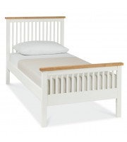Bentley Designs Atlanta Two Tone Single ( 90cm ) High Footend Bed Frame