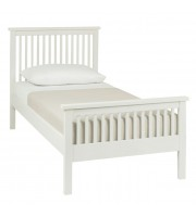 Bentley Designs Atlanta White Single ( 90cm ) High Footend Bed Frame
