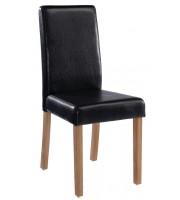 LPD Oakridge Black Faux Leather Dining Chair