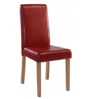 LPD Oakridge Red Faux Leather Dining Chair