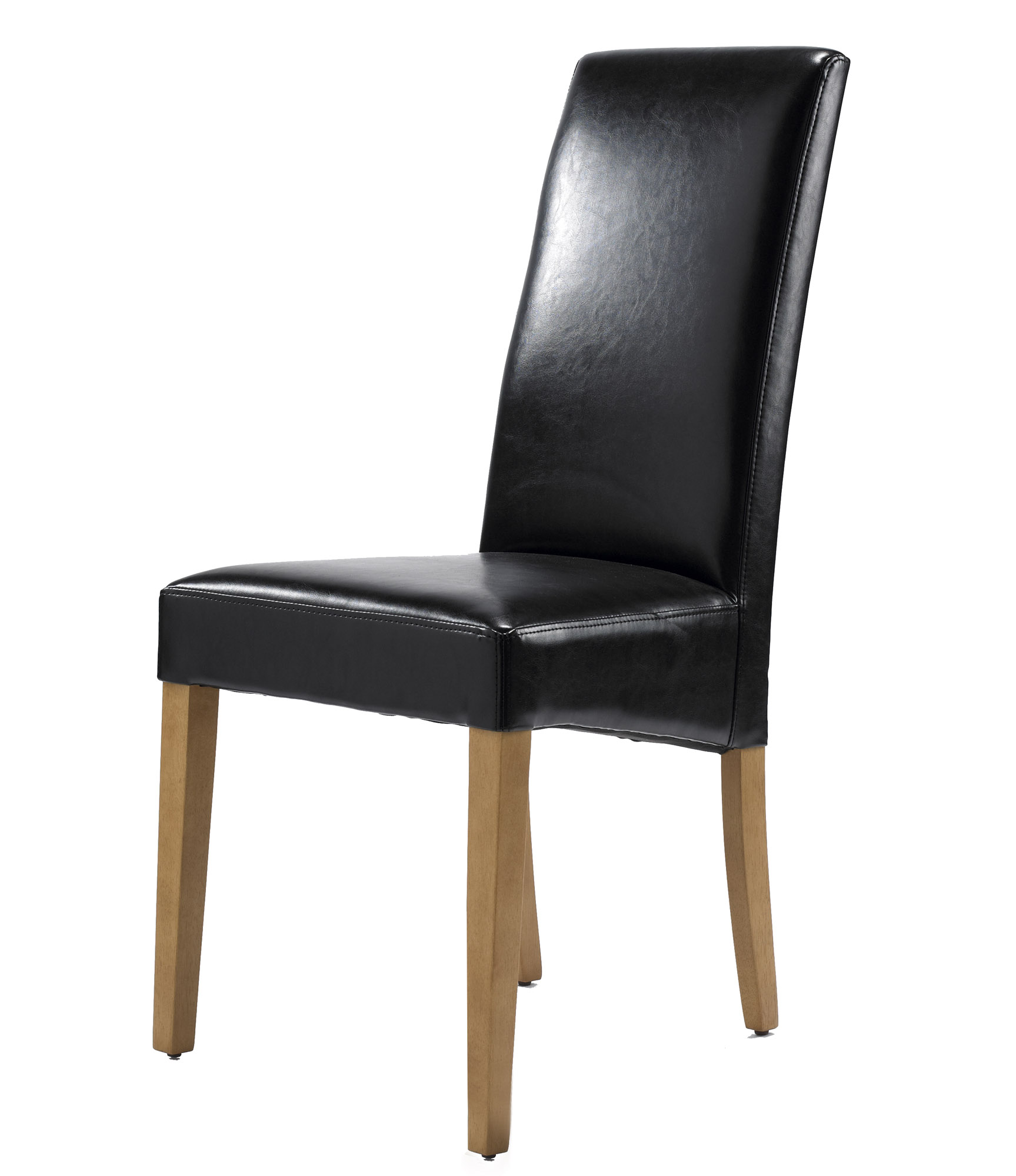 Chairs Sophia Black Leather Dining Chair