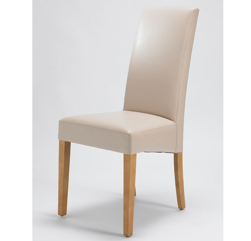 Chairs Sophia Cream Leather Dining Chair